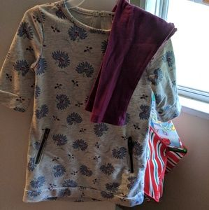 Girls leggings and sweater dress